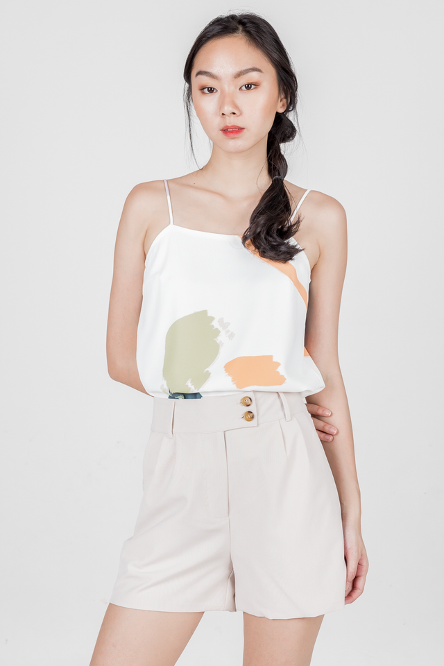 ADENA BUTTONED SHORTS (NUDE)