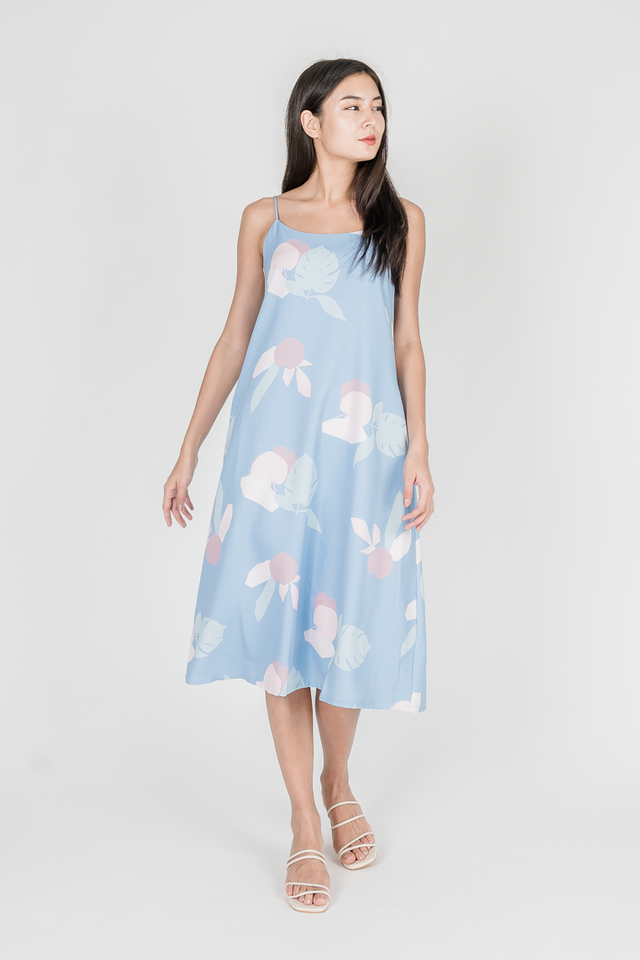 APPLE OF MY EYE TENT MIDI DRESS (BLUE)