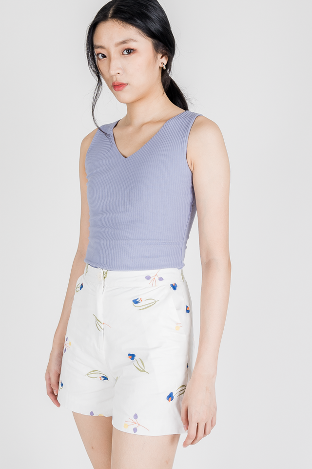 MILE RIB TWO WAY TOP (PERIWINKLE)