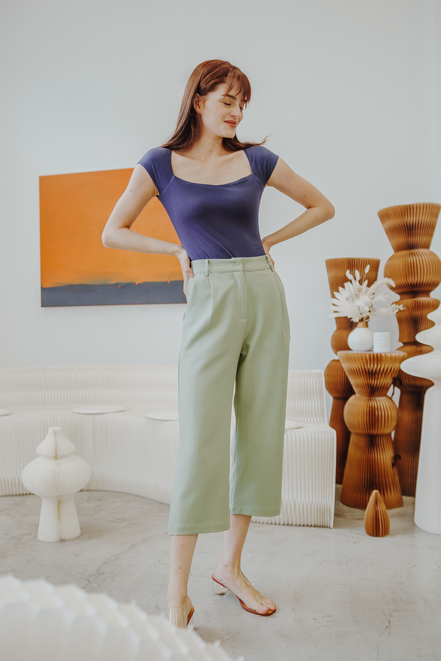SOFINA TAILORED PANTS (SAGE GREEN)